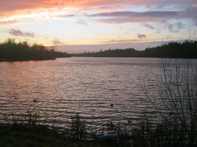 Sunset at Clumber Lake