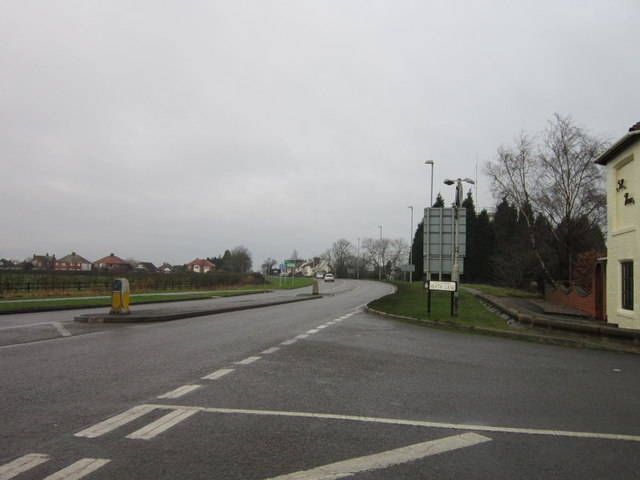The A511 from Heath Lane