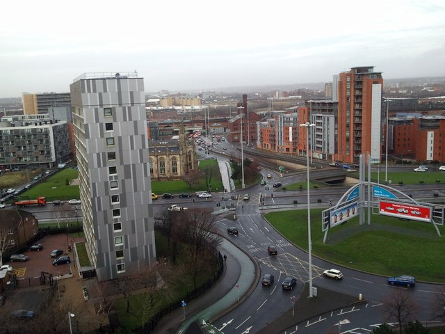 Roundabout From the Roof of Hulme Court