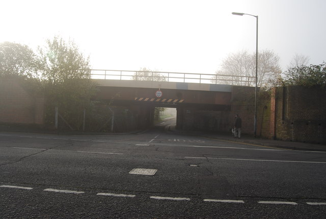Low, narrow railway bridge, Strawberry Vale