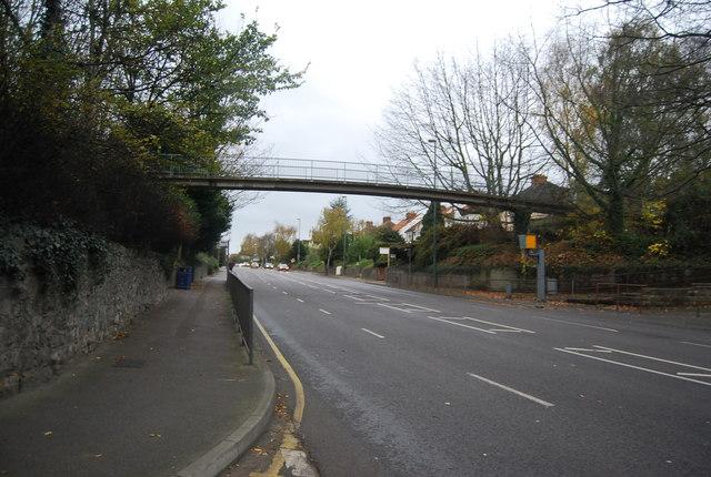 Footbridge over the A229, Loose Rd