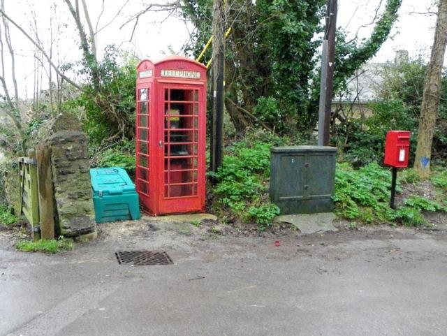Telephone box, Litton Cheney