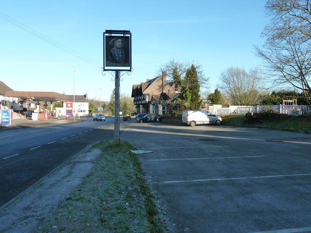 The King's Head and car park at North Chailey