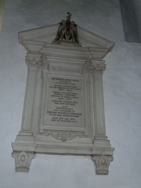 St Mary's Church, Breamore- memorial (c)
