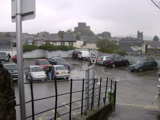 The small car park in Southgate Street Launceston