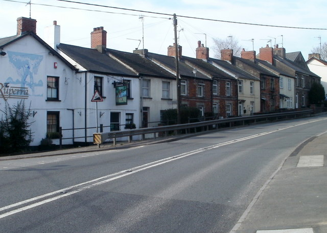 Caerphilly Road houses along a 10% incline, Bassaleg