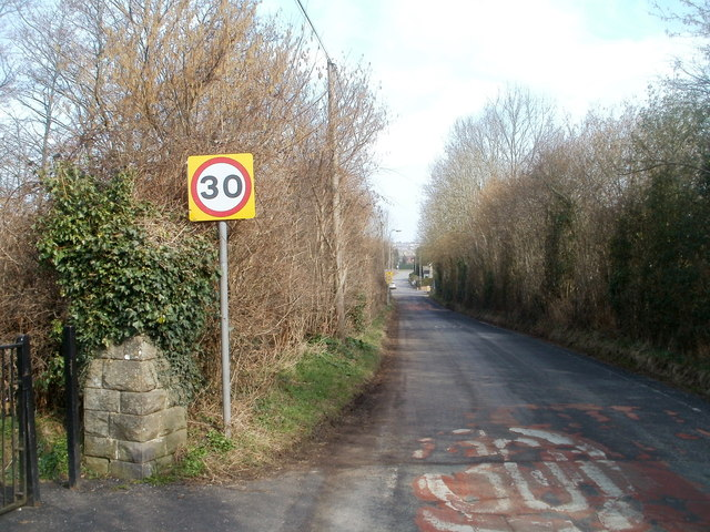 30 mph speed limit applies at the southern edge of Bassaleg