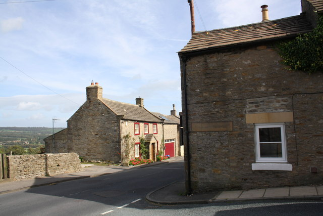 Houses beside the A684