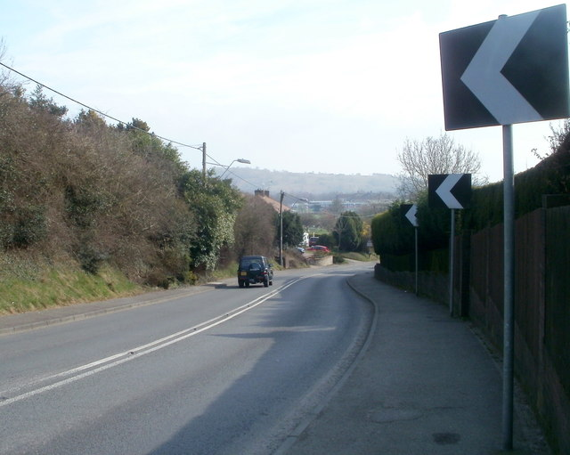 Get back on the left, bend ahead on Caerphilly Road, Bassaleg