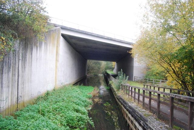 Blackwater River, Blackwater Valley Path and Blackwater Valley Relief Road Bridge