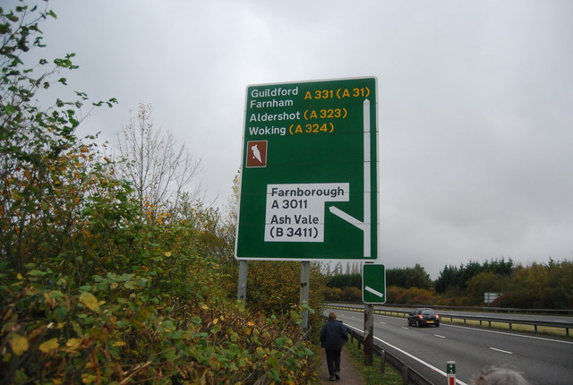Road sign above the Blackwater Valley Path