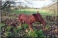 SJ4368 : Willow Fox on the Millennium Greenway by Jeff Buck