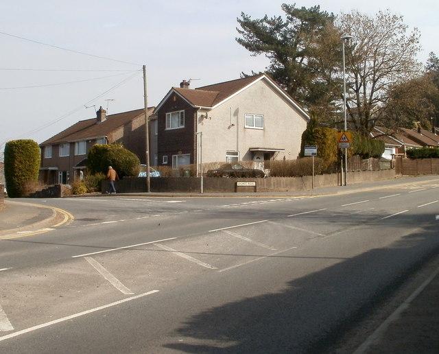 Corner of Laurel Road and Caerphilly Road, Rhiwderin