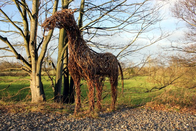 Willow Horse on the  Millennium Greenway