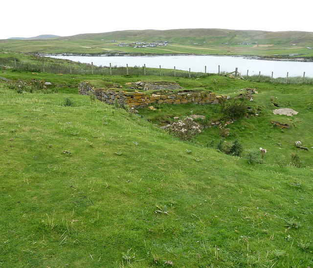 St Ninian's Church remains (1) from SW