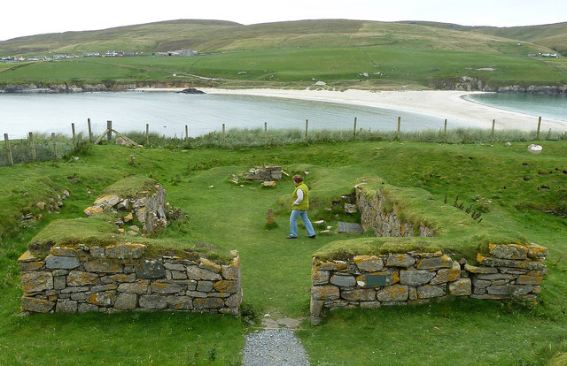 St Ninian's Church remains (2) from West