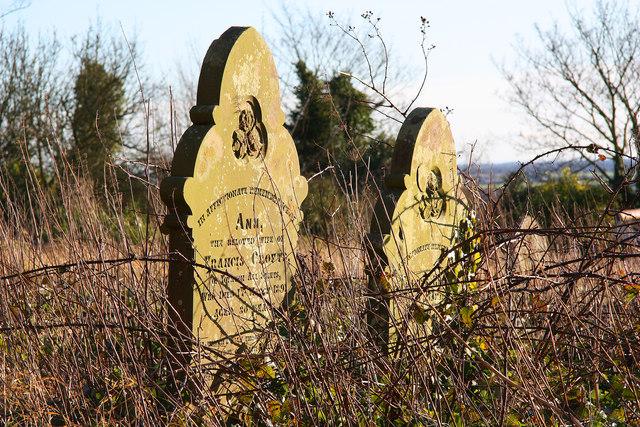 All Saints' headstones
