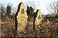 TF3963 : All Saints' headstones by Richard Croft