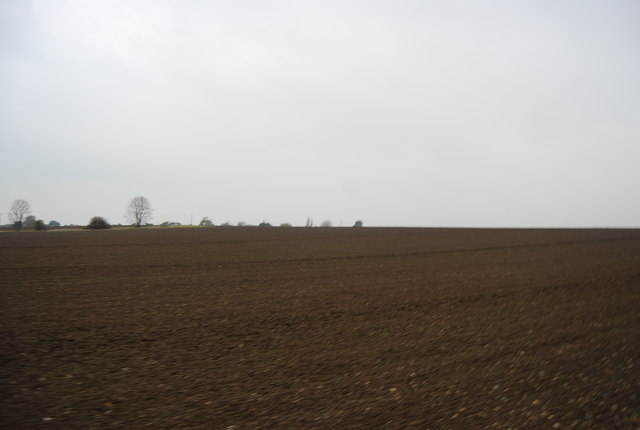 Large ploughed field