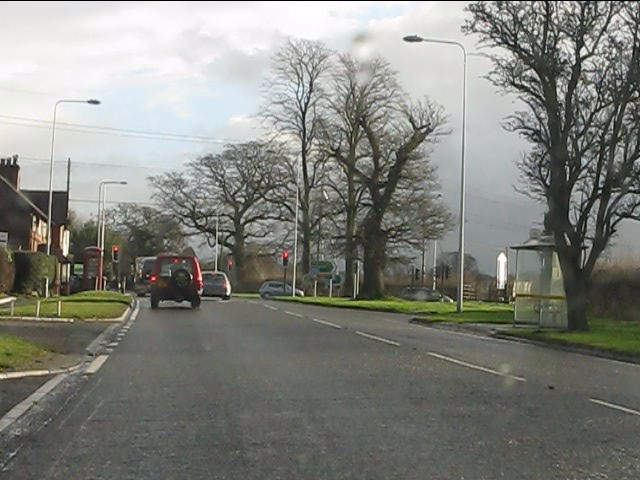 Monk's Heath crossroads from the eastbound A537