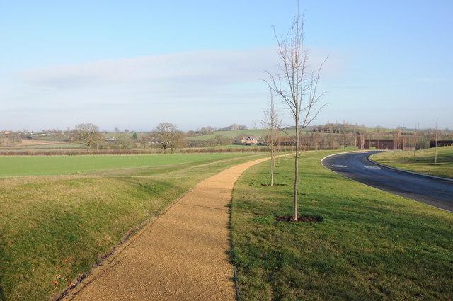 Footpath at Hindlip