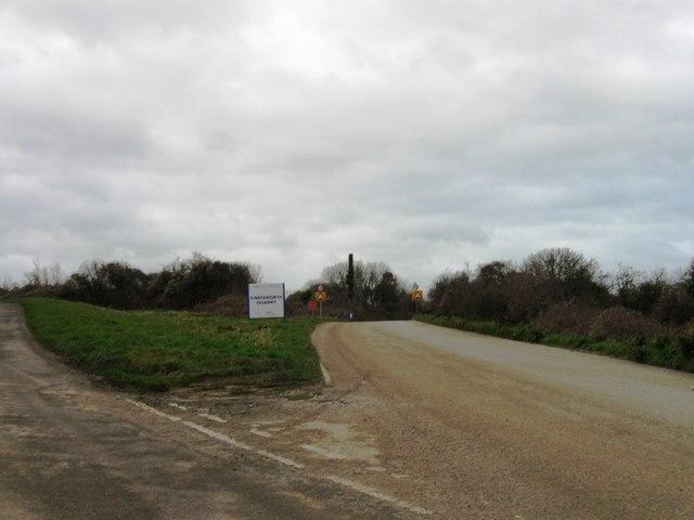 Turning for Swanworth Quarry