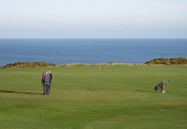 Golfers on the green, Whitby Golf Club