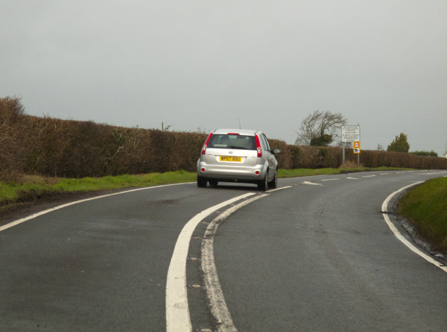 Going North on the  A4226
