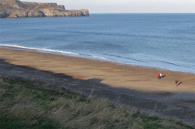 Sandsend beach in January