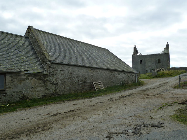 Farm buildings and ruin, Quendale