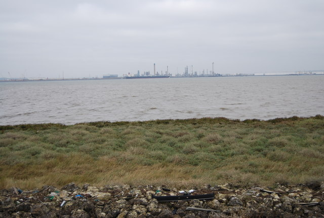 Canvey Island in the distance