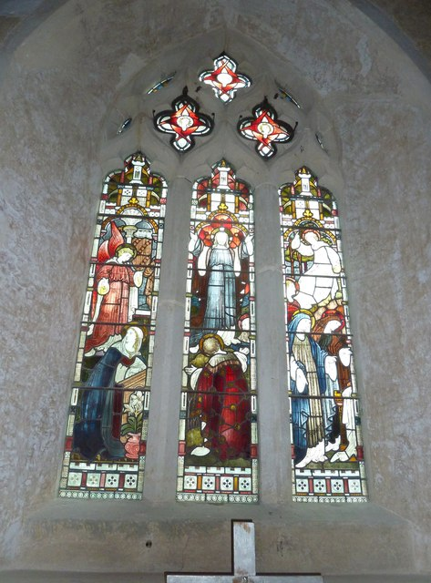 St Mary's Church, Breamore-stained glass window (2)
