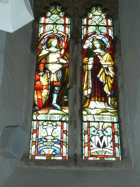 St Mary's Church, Breamore-stained glass window (4)