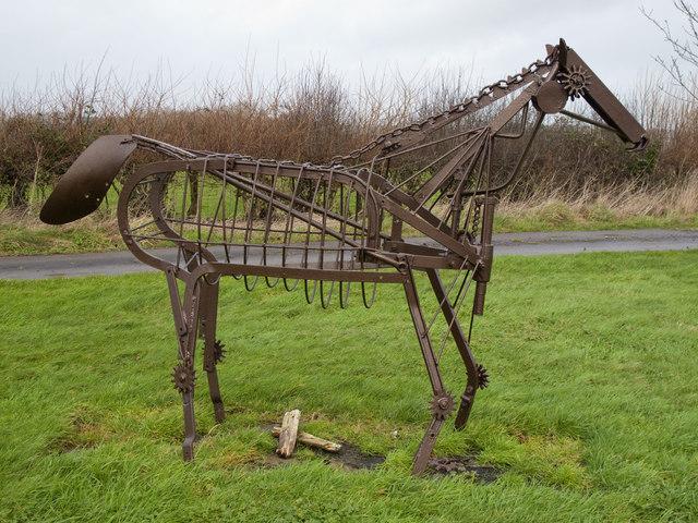 Horse Sculpture, Amelia Trust Farm