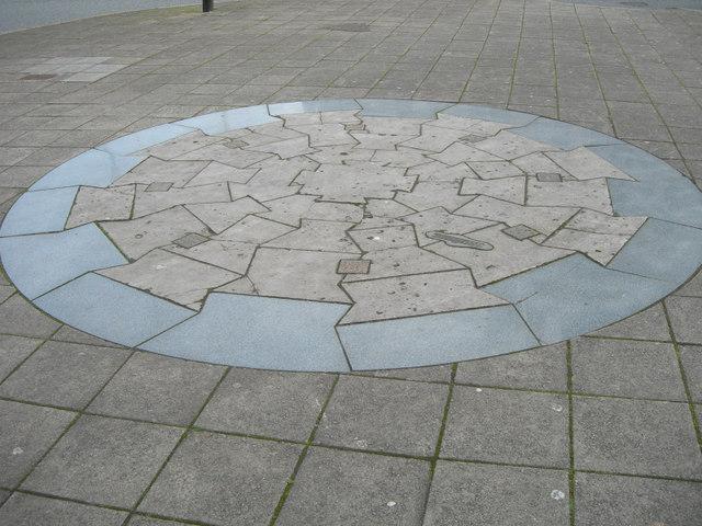 Mosaic of Smeaton's Lighthouse base