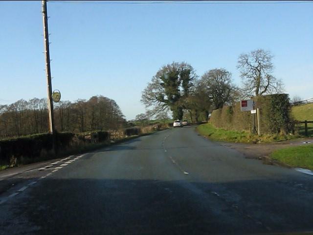 Lane crossroads on Pexhill Road