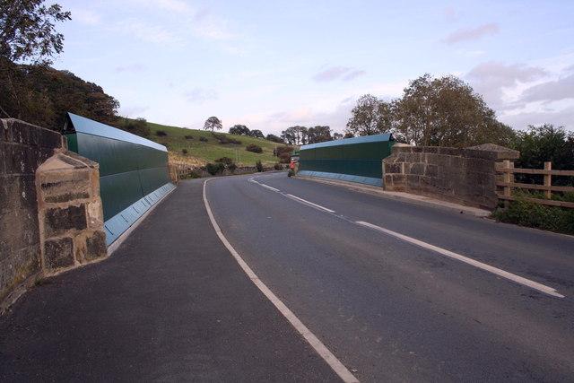 Wensley Bridge with metal parapets