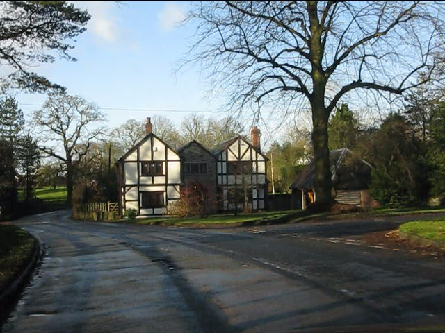 House at the lane junction, Twemlow Green