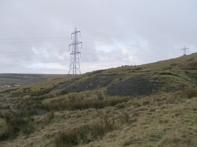 Old mine workings by the Todmorden Centenary Way