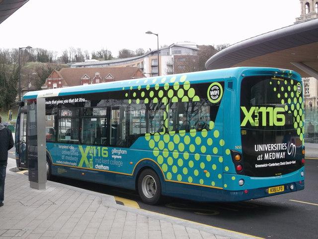 New Arriva bus in Chatham Bus Interchange
