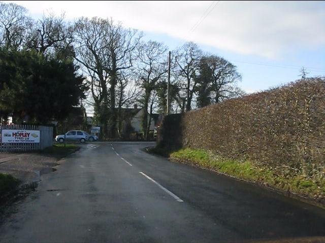 Twemlow Lane meets the A50
