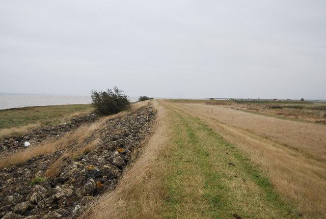 Embankment top path