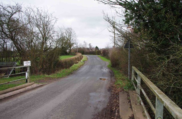 Minor road to Droitwich