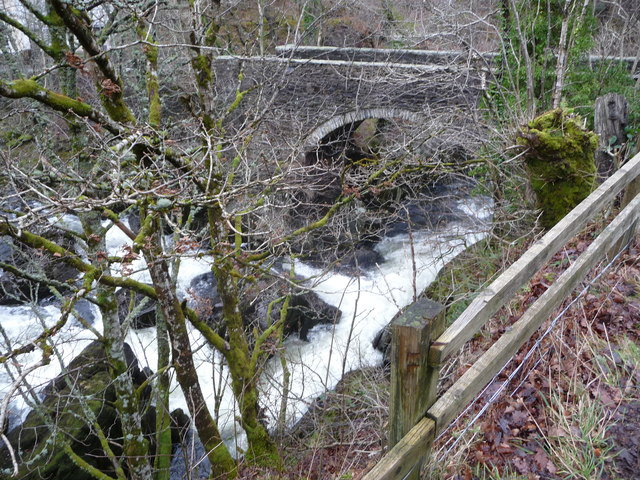 The Afon Llugwy at Pont Cyfyng in winter