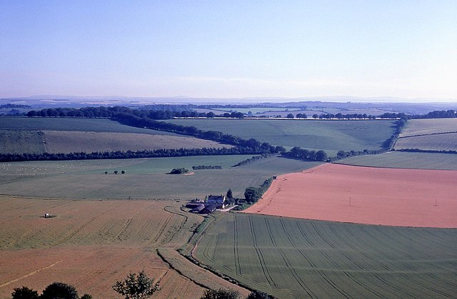 Farmland south of Old Winchester Hill