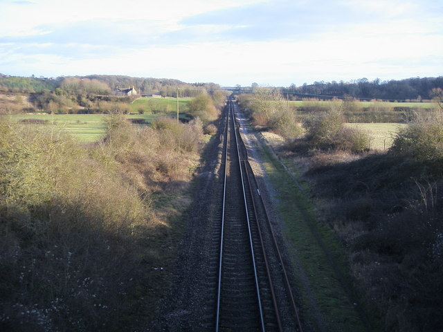 The line heading to Combe