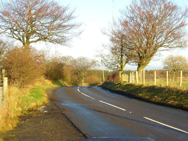 Rottenstocks, bend in road
