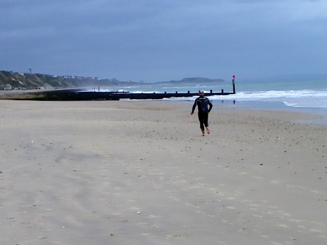 Running on the beach, Boscombe