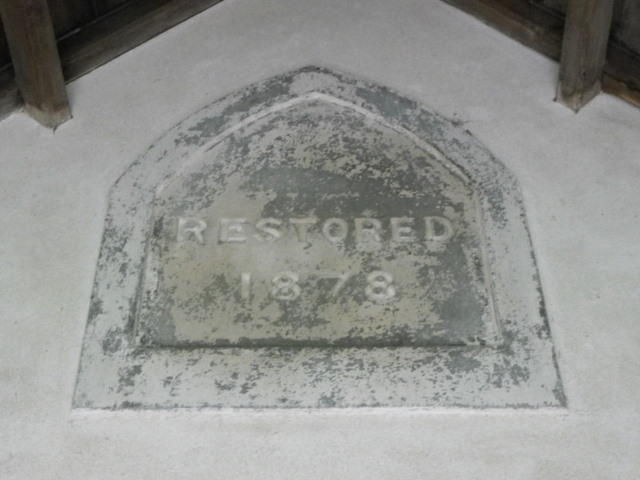 Date stone, St Mary's Church