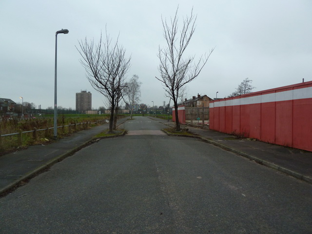 Turner Street, a street with no houses, Salford